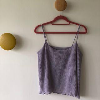 Pleated Off Cami In Purple