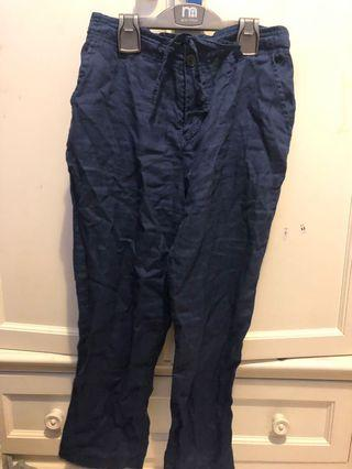 Muji Linen Navy Cargo Pants. Waist 72cm . With pockets . Wore once excellent condition like new .