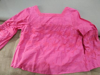 Pink Blouse Marks Spencer