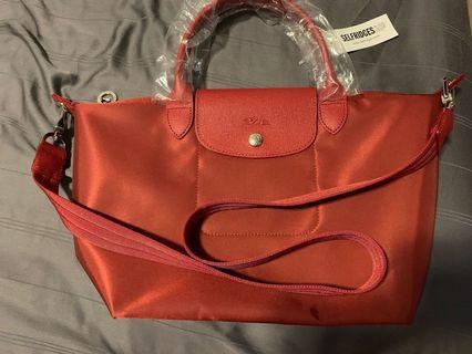 Longchamp Le Pliage Neo Red Tote Bag(Limited Edition)
