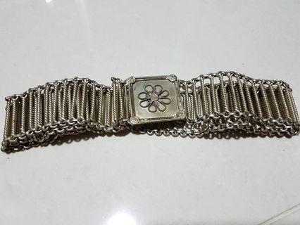 Peranakan silver lady belting