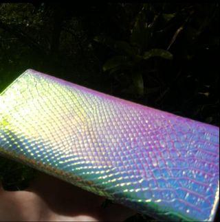 Multicoloured/iridescent wallet or clutch