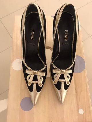 Authentic Fendi Gold Heels