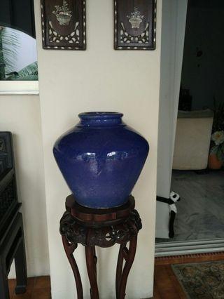 Cobalt blue big vase