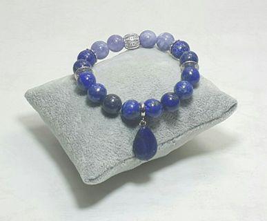 Lapis Lazuli & Angelite Handmade Bracelet