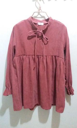 韓國 Korea粉紅連身短裙 pink skirt top