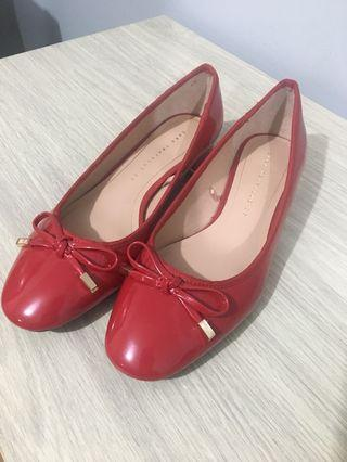 Red Flat Shoes From Zara