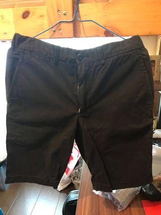 Uniqlo男裝短褲黑色 s碼