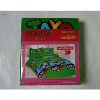 Sprei Bonita Ukuran 160x200 Motif Tayo Little Bus