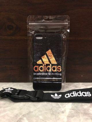 Adidas Casing Iphone 8plus or 7plus With free Lanyard