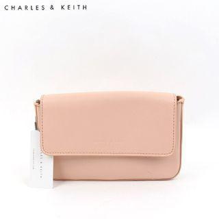 SAG6012 Peach Charles & Keith Waist Pouch