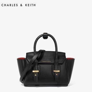 SAG6028 Black Charles & Keith Mini Wing Shoulder Bag
