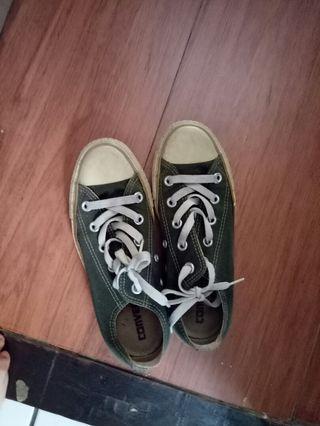sepatu converse low army size 36