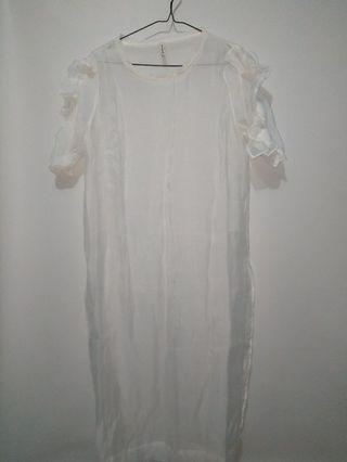 Stradivarius transparent dress