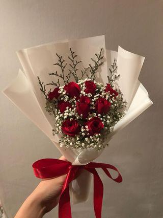 🚚 Red roses bouquet