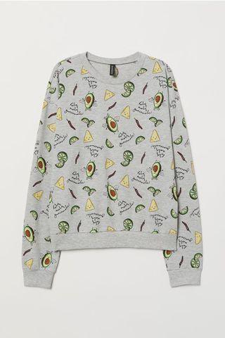 Grey Avocado Long Sleeve Pullover