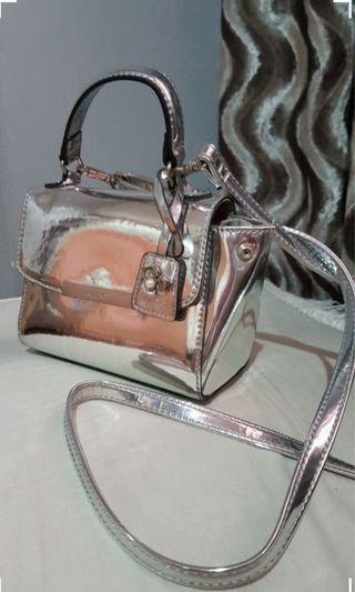 Aldo small sling bag silver