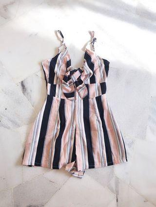 Baby Pink Stripes Romper / Jumpsuit
