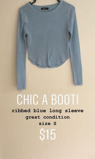 chic a booti blue long sleeve