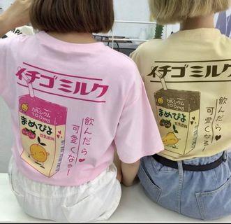 milk (?) ulzzang/harajuku shirt