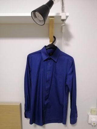 Mens G2000 Blue Long Sleeved Shirt