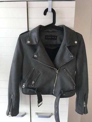 Biker Jacket (grey color)
