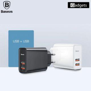 Baseus Speed Dual QC3.0 Quick Charger USB+USB