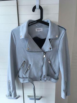 Biker Jacket (baby blue color)