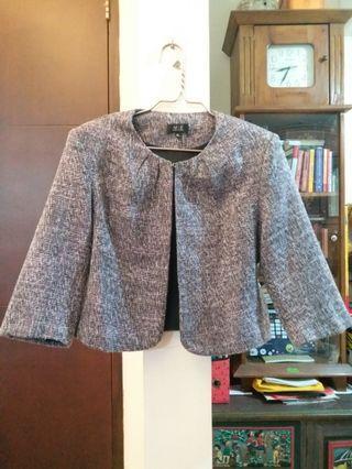 Grey tweed formal blazer