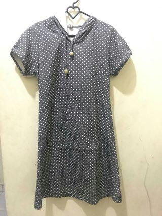 #BAPAU Grey Mididress Polkadot