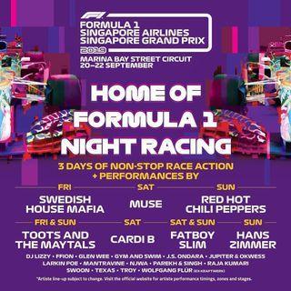 F1 Sunday Zone 4 baystand tickets X 3