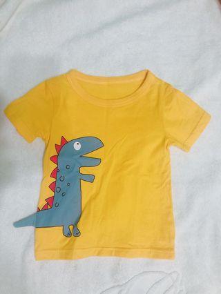出清雙寶二手可愛恐龍短袖上衣