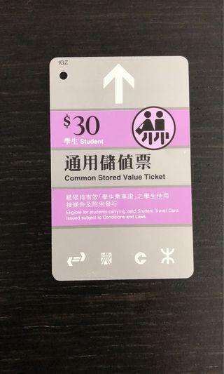 地鐵車票 MTR Tickets