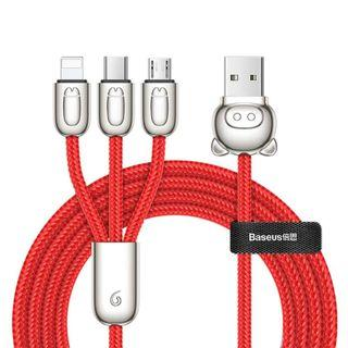 Baseus 3-in-1 USB Cable of Three Little Pigs