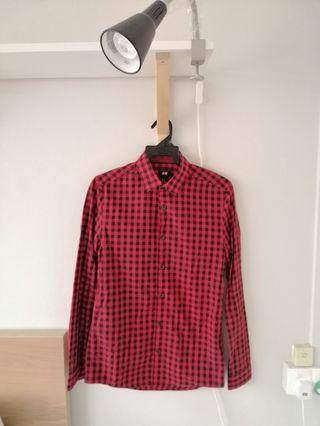 H&M Red Checked Shirt