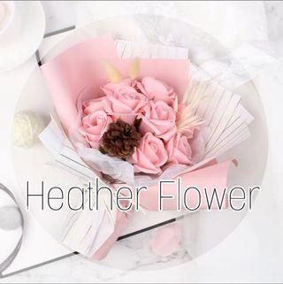 淡粉玫瑰花束