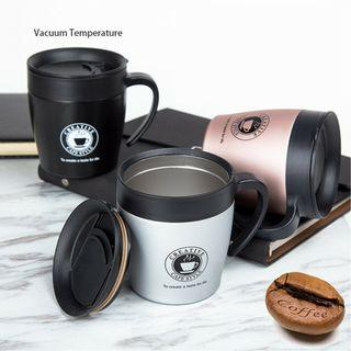 【Limited Stock】Stainless Steel Black Silver Coffee Mug 330ml