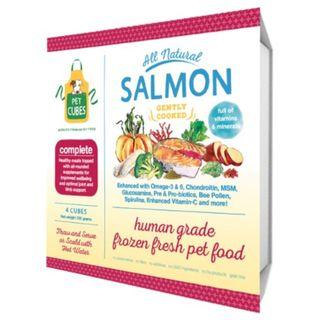 Pet Cubes Complete Salmon & Sardine Frozen Cooked Dog Food