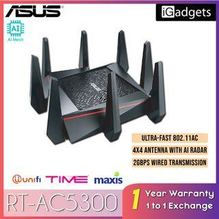 Asus RT-AC5300 Tri Band WiFi Router for Unifi / Time / Maxis Fibre