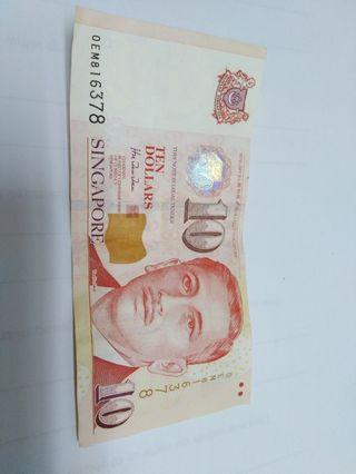 S'pore old note