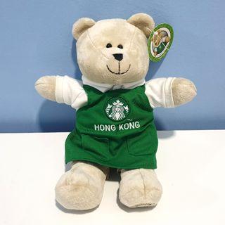Starbucks Hong Kong Green Apron Bearista Bear Plush