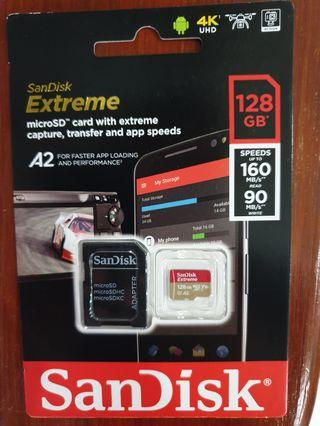 🚚 Sandisk Extreme 128gb Microsd card 160mb/s 128 micro sd