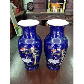 非凡二手家具 松鶴 陶瓷 造型花瓶*花器*盆栽*花盆*瓷器*裝飾品*擺飾品