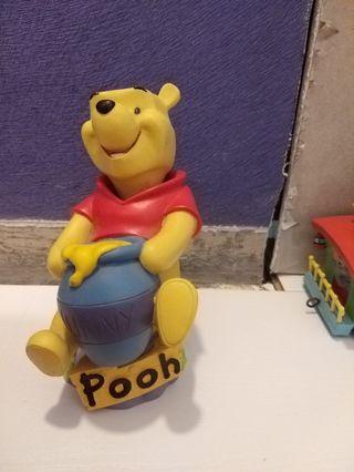 WALYDISNEY廸士尼  樹脂製 Winnie the Pooh小熊維尼 搖頭 擺件
