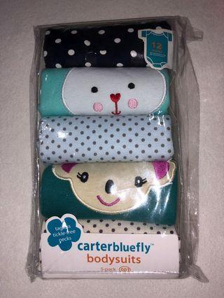 🚚 BNIP Set of 5 Baby rompers for 12mths