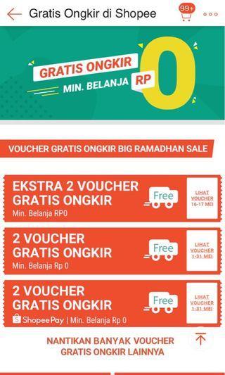 Cek Shopee Promo gratis Ongkir!!!