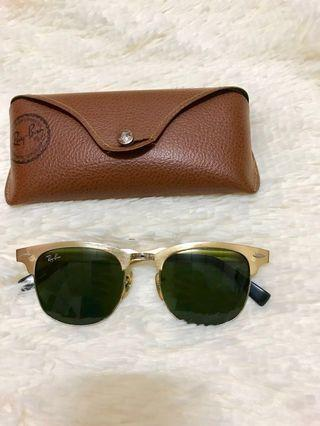 RARE Rayban Clubmaster Gold RB3507