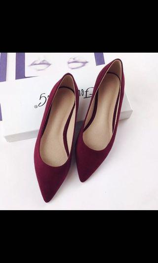 Shoes wine red