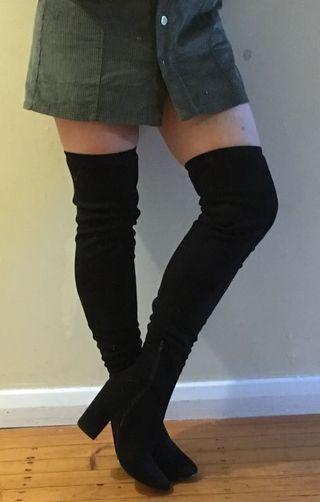 Black thigh highs NEW