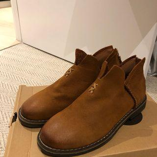 Japanese Korean style Camel wool boots